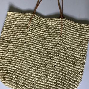 Merona Straw Beach Bag